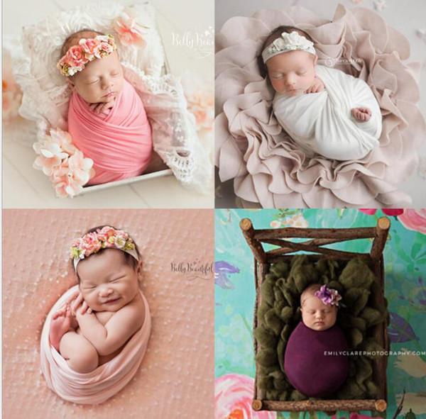 Baby Blanket Newborn Photo Props Photography Wraps Swaddle Wraps Infant Photography Props Photographic Mat Blanket 150*50cm KKA5822