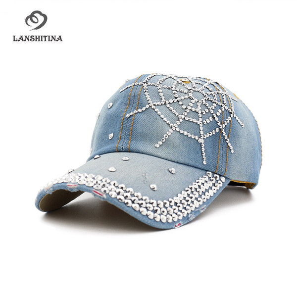 Fashion Denim Caps Women Ladies Baseball Caps Casquette Snapback Gorras Drilled Hat Outdoor Sunhat Shading Hat for Female