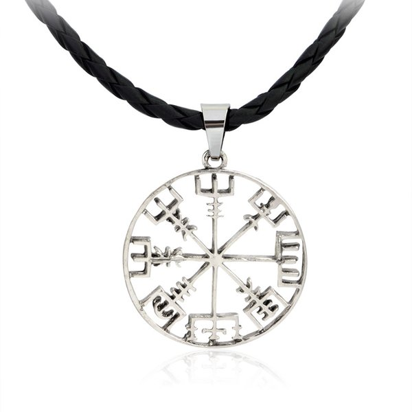 Free shipping new model alloy Compass pendant Necklace men leather rope chain fashion jewelry pendant necklace