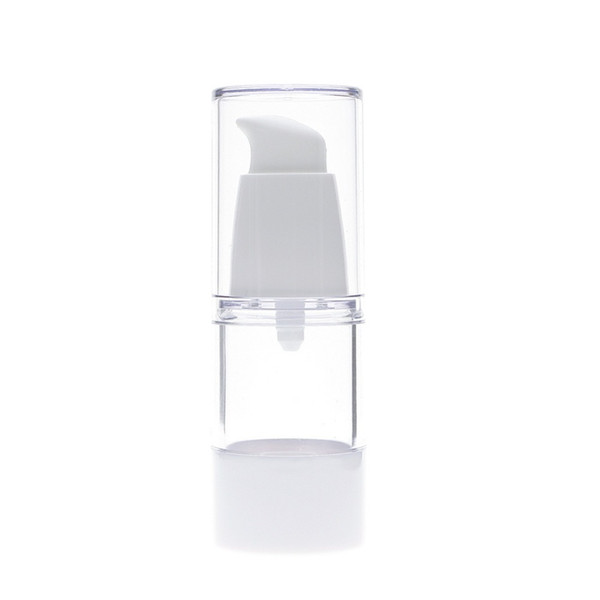 15ml Transparent Refillable Empty Plastic Perfume Bottle Airless Pump Vacuum Containers For Cosmetics Travel Dispenser