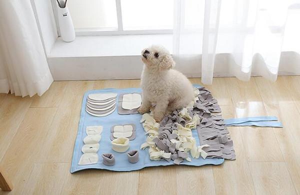 Creative Bouquet Shape Feeding mat for Dog Nose Work Mat Sniff Pads Handmade Dog Cat Mat IQ Training Play Feeding Mats Blanket Toys