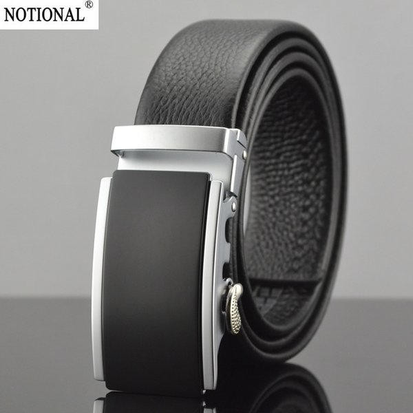 NOTIONAL men belt men Leather belt male genuine leather belts cowskin Automatic Buckle High Quality fashion gift NX1004B