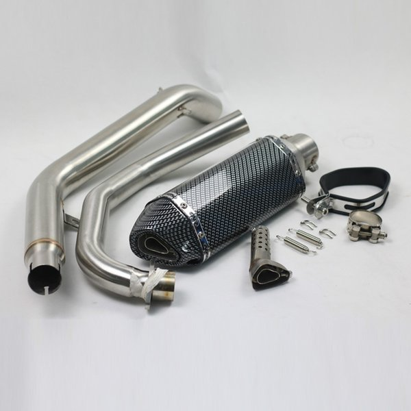 CB190R CBF190R Motorcycle Slip On Exhaust Muffler With Middle Link Pipe With Moveable DB Killer Exhaust Pipe Exhaust System For Honda CB190R