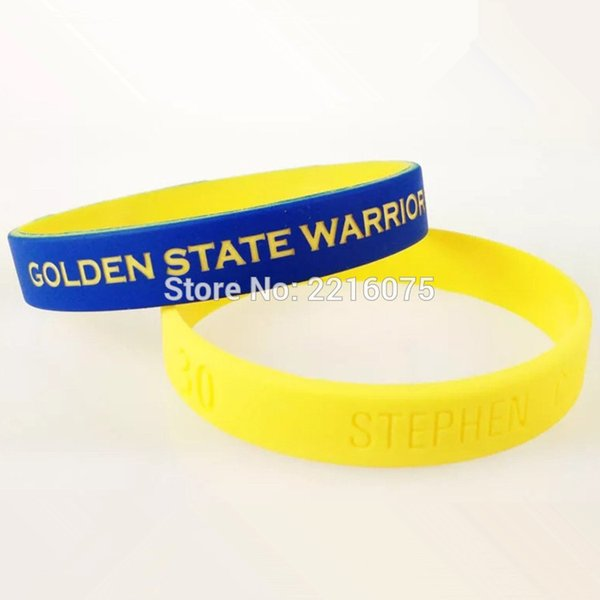 300pcs color coated Stephen Curry wristband silicone bracelets free shipping by DHL express