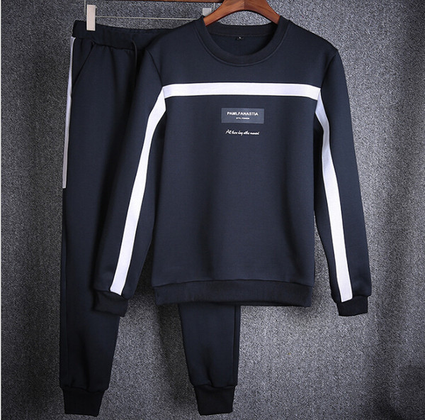 best selling Spring Autumn New Brand Men's Clothing Youth Casual Coat Sportswear Suit Black White And Blue 3 Colors Tracksuit For Men