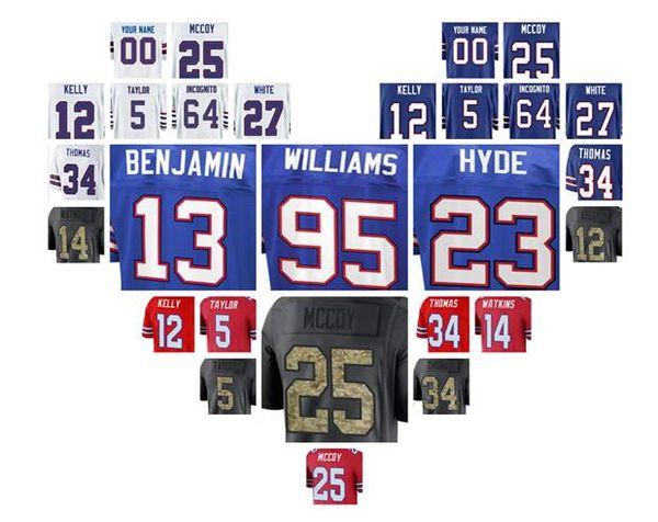 2018 Buffalo LeSean McCoy Bills jersey custom Tre Davious White Thurman  Thomas authentic sports youth 419594d05