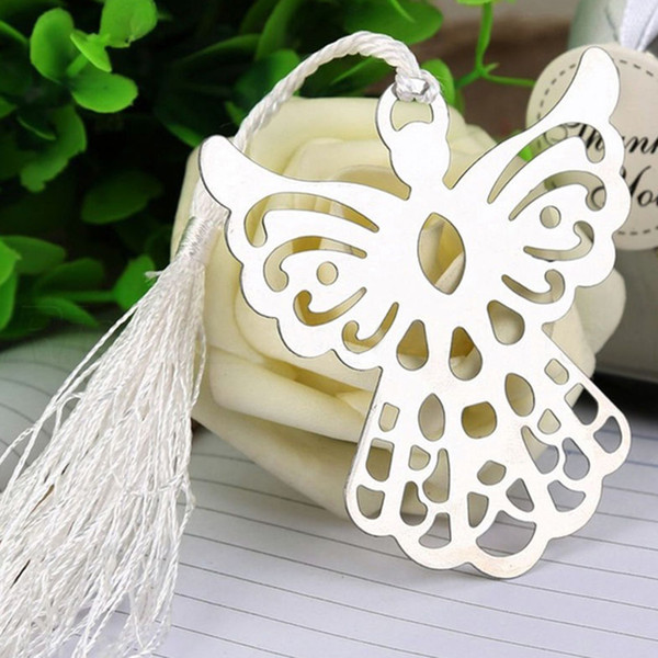 best selling Angel Tassel Stainless Steel Bookmark School Supplies Page Holder With Gift Box