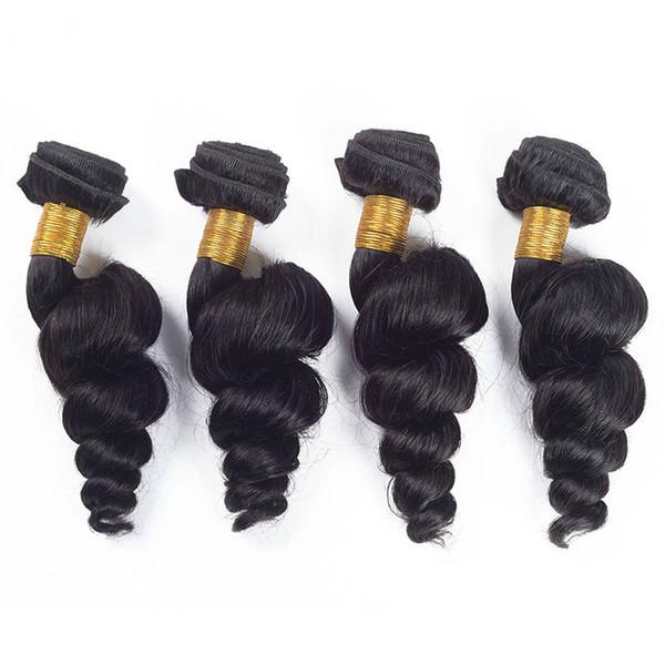 femmes lâche vague humaine faisceaux cheveux véritable personne extension de cheveux Bundles brésiliens bundles de cheveux vierges avec fermetures couleur naturelle 100g