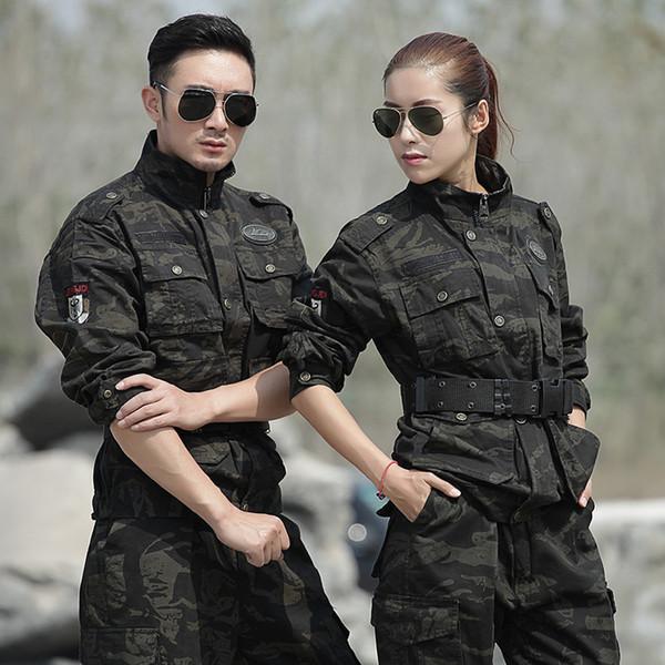 Hunting Clothes Men Women Uniforme Militar Tactical Combat Winter Cotton Warm Ghillie Suit Black Hawk US Army Uniforms