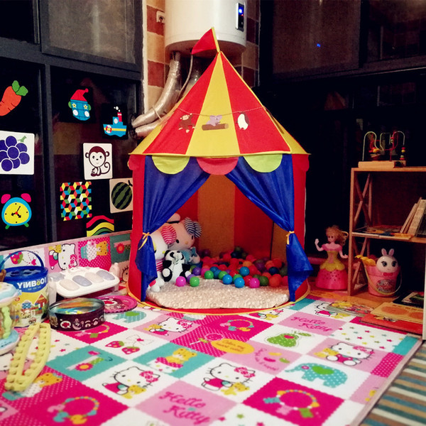 Best Deal Kids Play Tent baby pirate CastleTent Baby Toy Play Game House Kids Princess Prince Castle Indoor Outdoor Toys Tents