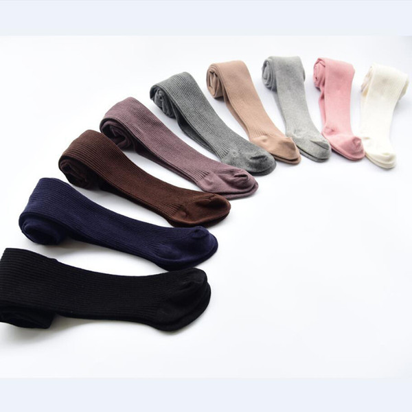 Spring Autumn Fashion Infant Baby Girls Tights New Knitting Hosiery Baby Stockings Fashion Solid Color Skinny Trousers Pants