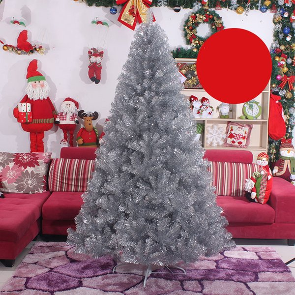 Tall Christmas Tree Decorating Ideas.2019 2018 Winter Fashion New Arrival Silver 0 6 2 4 Metres Tall Christmas Tree For Family Office Hotel Decoration One Piece Package From
