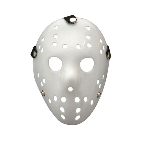 Maschera di Halloween Jason Voorhees Venerdì 13th Horror Movie Hockey maschera bianca Scary Masquerade Costume Decor Halloween puntelli FFA778