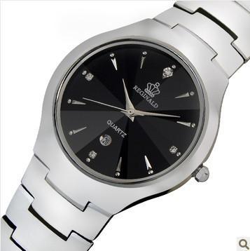 Lüks HK Marka Adam Lady Severler Kuvars Saatı Kristal Su Geçirmez Tungsten Çelik Takvim Tarih Hafta Erkekler Iş Saatler