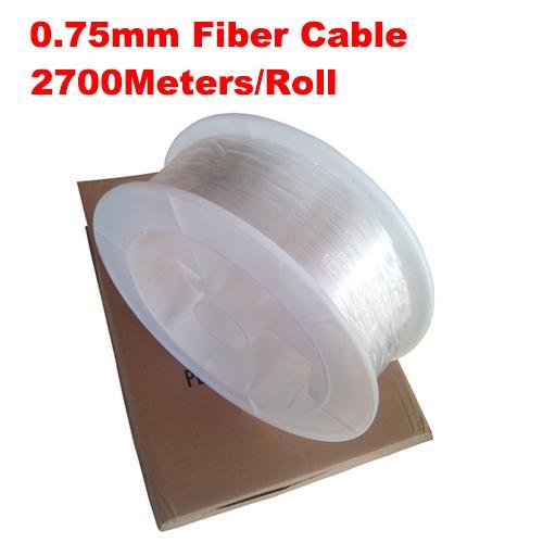 0.75mm diameter 2700m/roll PMMA fiber optic cable end glow for decoration lighting led fiber lights