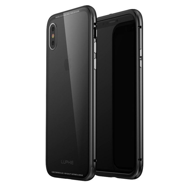 Case For New IPhone XS Luxury Original Aluminum Metal Frame + 9H Transparent Tempered Glass Back Cover iPhoneX /XR