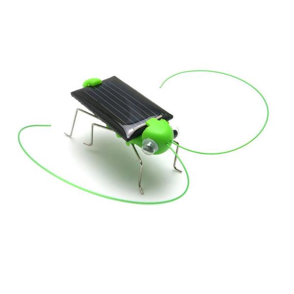Divertente modello di cavalletta Giocattoli a energia solare Bambini Bambini Giocattoli educativi di moda 4 * 1,8 cm Regalo di Natale di Cricket di energia D4
