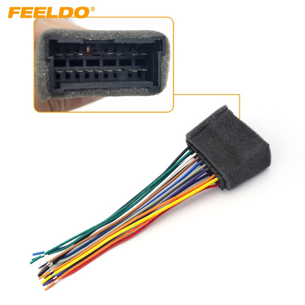 FEELDO Car OEM Audio Stereo Wiring Harness Adapter For Hyundai/KIA(01~05) Install Aftermarket CD/DVD Stereo #2053