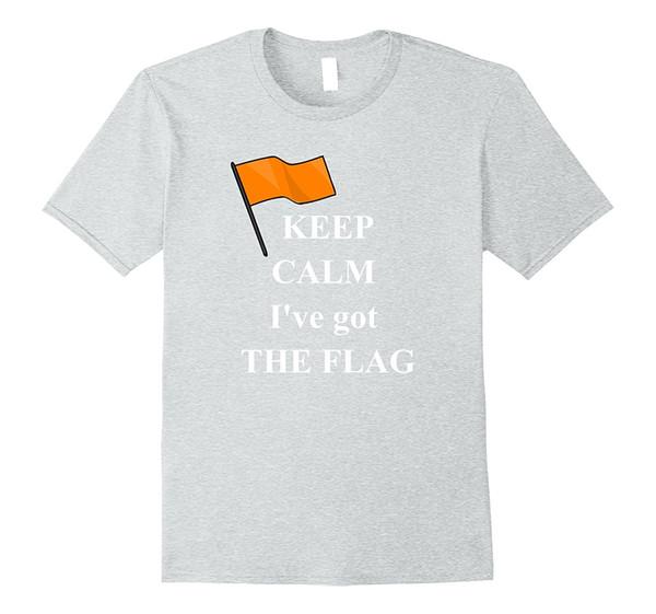 Mantieni la calma Arancione Bandiera Sicurezza Canottaggio Cieli acquatici Tshirtcotton Magliette classiche da uomo