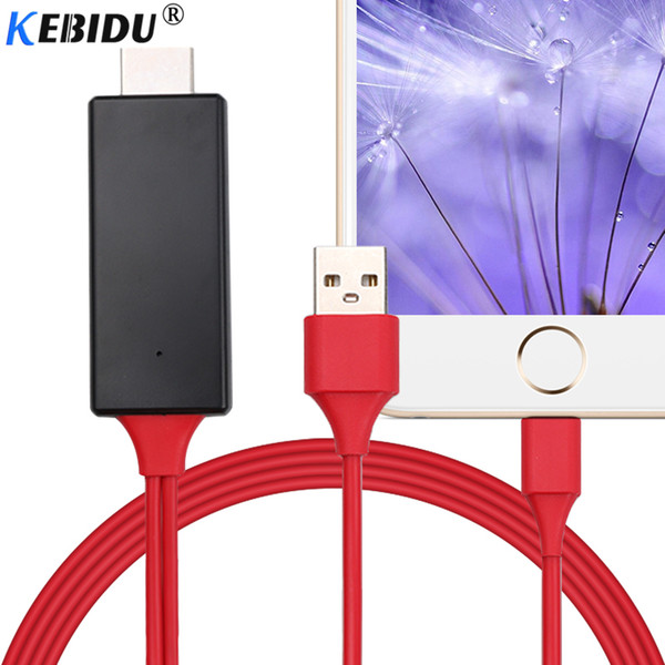 Kebidu HDMI Cable For Lightning Micro USB to HDMI Adapter Converter Cable AV HD TV for IOS iPhone iPad MHL Android Phone