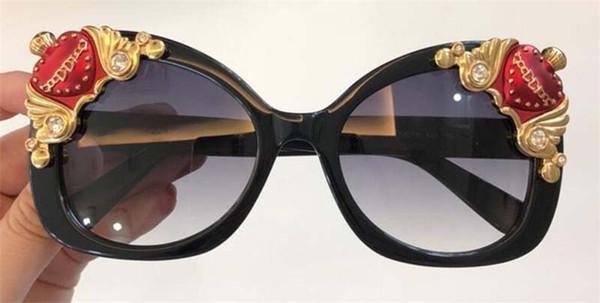 065aa89202ff1 Nova designer de moda mulheres clássico óculos de sol 4319 olho de gato  placa de diamante