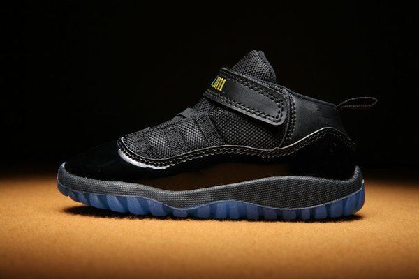 Cheap kid 11 XI Space Jam Shoes Little Baby Boys Girls Toddlers 11s Gamma Concord Bred Walkers Sneaker size 6C-10C