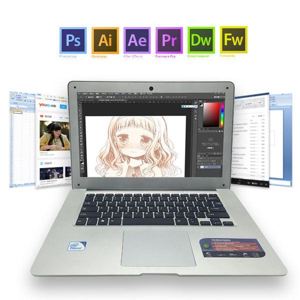 DeeQ Working laptop 14inch intel Celeron J1900 Quad-core 4G RAM 240G SSD+1TB HDD 1920*1080 FHD ordenador portatil free shipping