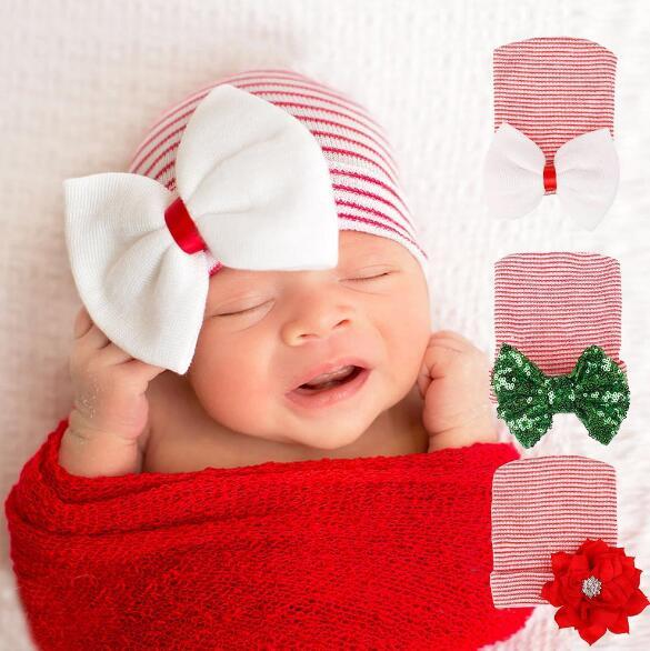 KIDS Winter Cap with Bow Wrinkle Cute Fashion Warm Hat 4 colors Knitted Head Cap for Children
