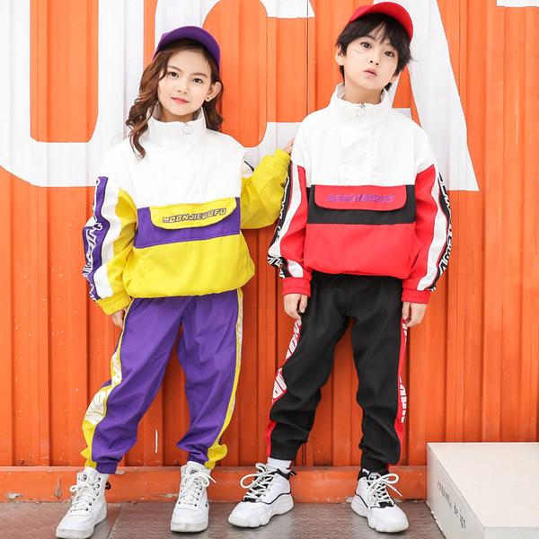 da1782b14 Woman Man Boys Girls Hip Hop Costumes Kids Hiphop Jazz Street Dancewear  Clothes Dancing Suit for