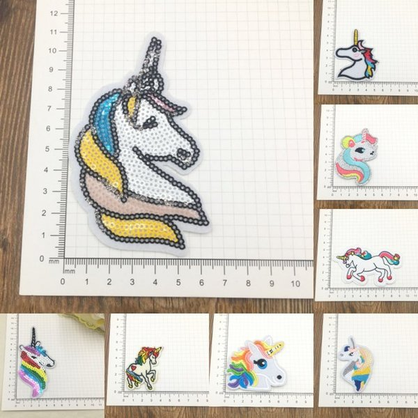 Iron On Patches for Clothing Embroidery Patch Unicorn Cloth Stickers For Hat Bag Badge Cloth Sticker Embroidered Stickers H479Q