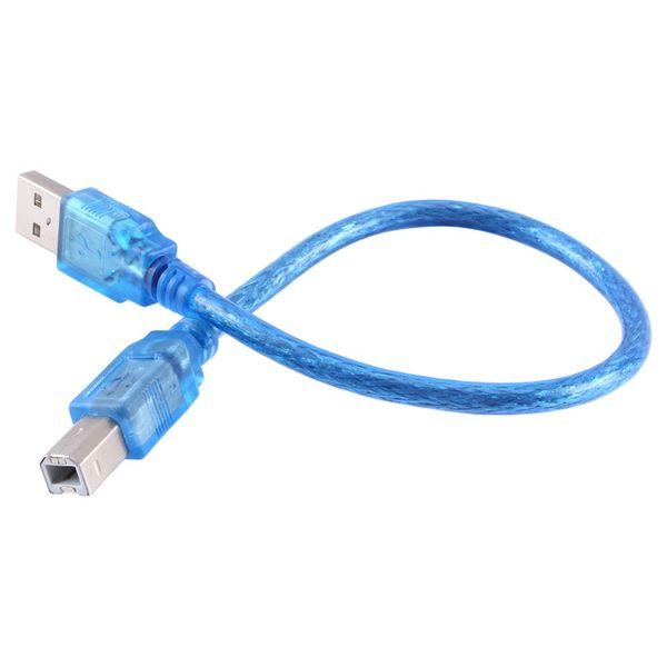 Расширение принтер кабель 30 см USB 2.0 мужчина к B мужской компьютер провод кабель шнур конвертер разъем линии для компьютера PC ноутбук