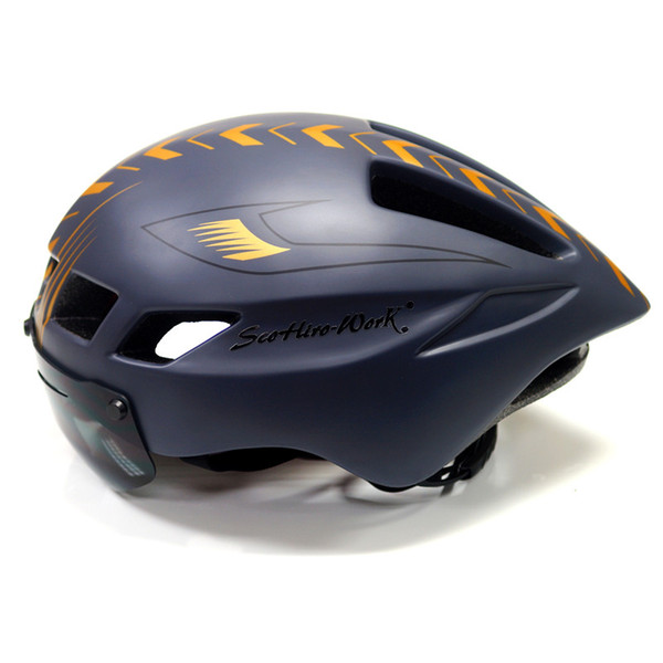 Scohiro works 2018 Mtb Mountain Road Bike Bicycle Helmet lens visor glass Capacete da Ciclismo Cascos Cycling Helmet Integrally