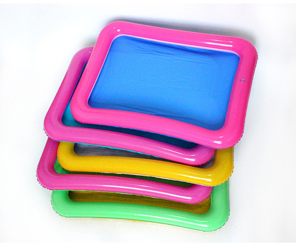 top popular PVC inflatable sand table fishing toy Mini tank air cushion inflatable tray toy wholesale inflatable 60*45, swimming 2020