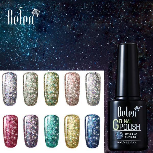 Belen Super Bling Starry Nail Gel Winter Glitter Soak Off Varnish ...