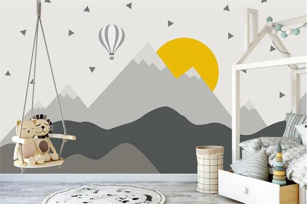 Großhandel Tuya Kunst Tapeten Schwarz Und Weiß Muster 3D Bild Kind Tapete  Kinder Wand Dekor Tapeten Kinderzimmer Wandbild Von Fumei66, $30.6 Auf ...