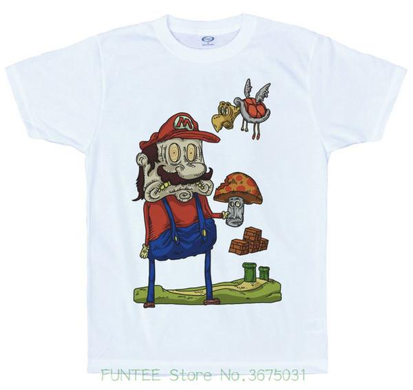 a0687ee2ab0 Hip Hop Novelty T Shirts Men s Brand Clothing Mario   Mega Mushroom T Shirt  Design