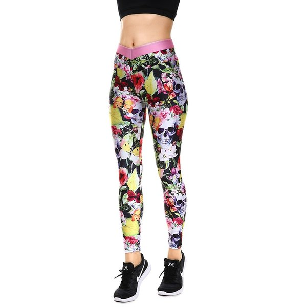 Winter Hot Sale Halloween Yellow Leaves Women's Yoga Leggings Tight Pants Workout Pants Exercise Running Fitness Leggings