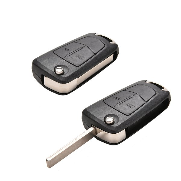 2 Buttons Flip Remote Folding Car Key Fob Case for Vauxhall Corsa Astra Vectra Signum Uncut Key Shell Cars Cover