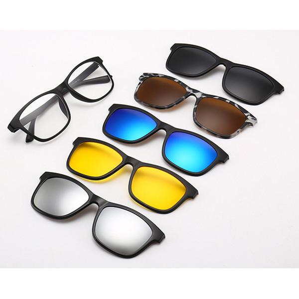design innovativo a2473 fc1d6 Acquista 5 Lenti Magnetiche Occhiali Da Sole 5 In 1 Clip Mirrored Clip On  Occhiali Su Occhiali Uomo Donna Polarizzati Prescrizione Personalizzata ...