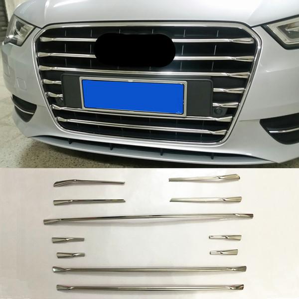 En Acier Inoxydable Avant Pare-chocs Air Grille Grill Décor Couverture Bandes De Garniture Pour Audi A3 Hayon 2014-2016 Car Styling