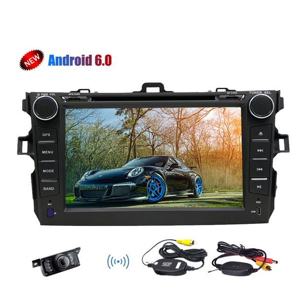 Android 6.0 Marshmallow Stereo System Quad-core GPS Navigation Bluetooth Car dvd Player For Toyata Corolla (2007-2013) Wifi OBD 4G/3G Mirror