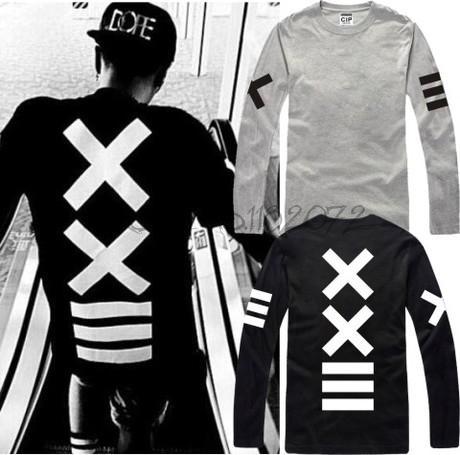La fábrica vende directamente Pyrex 23 HBA camiseta manga larga camiseta XXlll calle moda camiseta XXIII hip hop camiseta