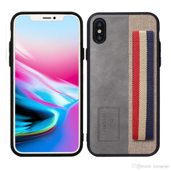 Cheap price Hot sell Business style phone case Splicing and coloring Wrist cell phone case cover for iphone x wholesales price