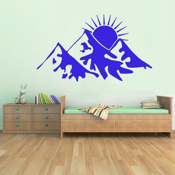 Snow Mountains Vinyl Graphics Wall Decal Vinyl Sticker Room Decoration Accessories Wall Stickers Home Sticker Home Wall Art Stickers From Xymy757