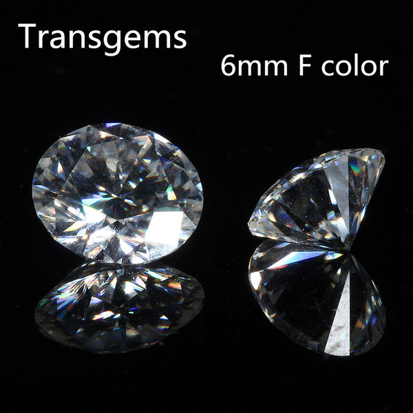 2019 TransGems 6mm 0 8 Carat F Color Certified Lab Grown Moissanite Diamond  Loose Bead Test Positive As Real Diamond S923 From Ruiqi08, $139 98 |