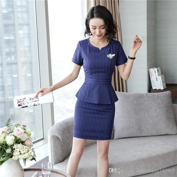 Großhandel Mode Temperament Frauen Hosenanzug OL Formale Geschäfts Dünne Kurzarm Blazer Und Hose Büro Damen Arbeitskleidung Frauen Zweiteilige Hosen