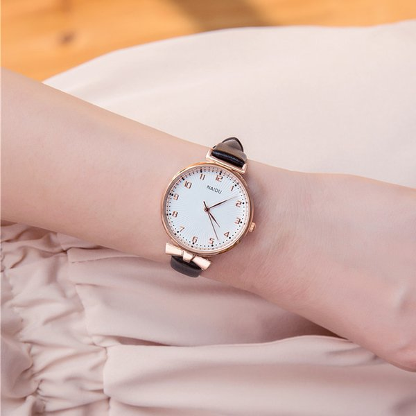 Senhora Relógios de Pulso Moda Feminina Rose Borboleta Ouro Bowknot Caso Relógio de Quartzo Pulseira De Couro Mulheres Relógio De Pulso Relógio Feminino Reloj