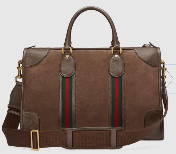 Suede bag with Web 459311 Men Messenger Bags Shoulder Belt Bag Totes Portfolio Briefcases Duffle
