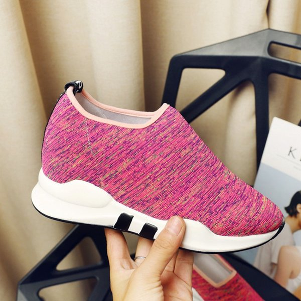 plus size 34-45 Women Casual Shoes Spring Summer Breathable Air Female tenis sneakers Platform Lightweight Height Increase Shoes