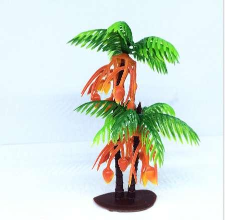 10pcs aquarium background Artificial plant landscaping 9cm large palm leaf Double Fruit Decor Home Garden Wendding Decoration